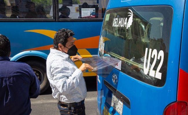 Sanciona SMT a unidades de transporte público por portarpropaganda política-electoral y por irregulares