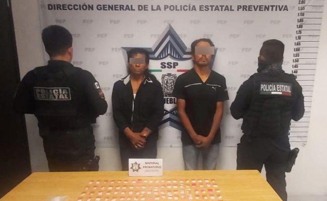 Caen dos presuntos narcomenudistas en San Andrés Cholula
