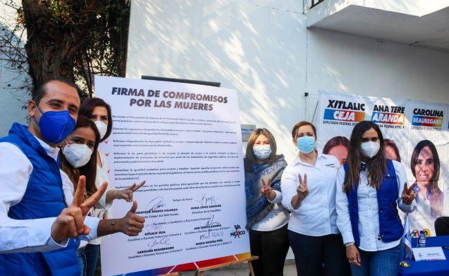 Firman candidatas y candidatos de Va por México Compromisos por las Mujeres