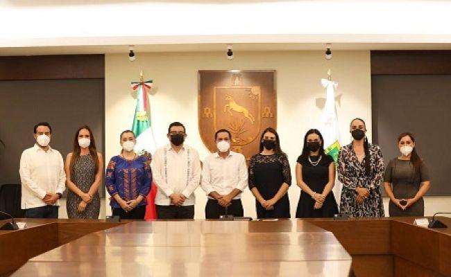 Se reunen diputados electos del PAN Puebla con el gobernador de Yucatán Mauricio Vila Dosal