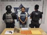 """Detiene Policía Estatal a presunto narcomenudista de la banda de """"La Dulce"""""""